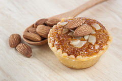 Almond cup cake Stock Photo
