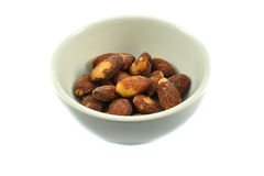Almond in cup Royalty Free Stock Photos
