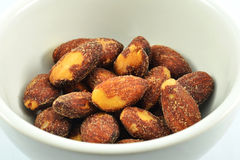 Almond in cup Stock Photos