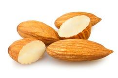 Almond cut. On white background Royalty Free Stock Photo