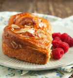 Almond Danish pastry Royalty Free Stock Photo