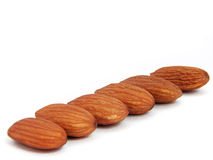 Almond in diagonal Stock Image