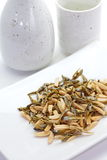 Almond and dried small fish Stock Photography