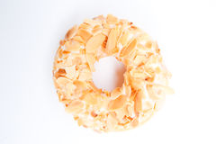 Almond flake donut. An image of a almond flake donut Royalty Free Stock Photos