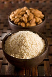 Almond flour Stock Photography