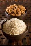 Almond flour Stock Photography