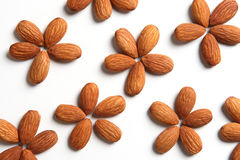 Almond Flowers. Flower patterns formed by almonds stock photos