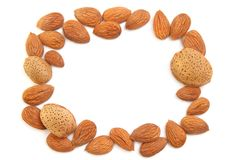 Almond frame Royalty Free Stock Image