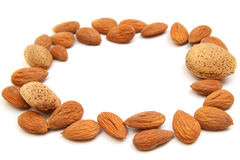 Almond frame Stock Image