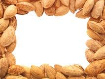 Almond frame. Royalty Free Stock Photo