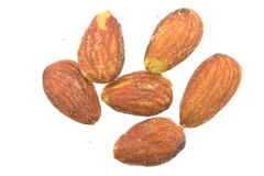 Almond. The almond fruit measures 3.5–6 cm (1–2 in) long. In botanical terms, it is not a nut, but a drupe Royalty Free Stock Image