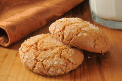 Almond ginger cookies Stock Images