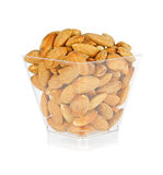 Almond in a glass bottle Royalty Free Stock Photo