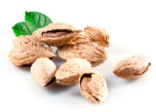 Almond; group of nuts isolated Royalty Free Stock Photos