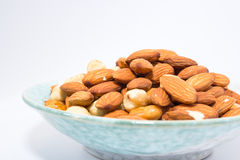 Almond and Hazel nuts Royalty Free Stock Photo