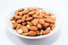 Almond and Hazel nuts Royalty Free Stock Image
