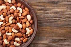 Almond, hazelnut and cashew. Stock Images