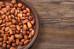 Almond and hazelnut Royalty Free Stock Photography