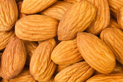Almond heap Stock Images