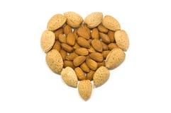 Almond heart Stock Photo