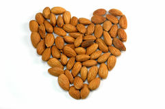 Almond heart Stock Image