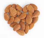 Almond heart Royalty Free Stock Photos