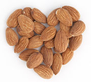 Almond heart Royalty Free Stock Photo