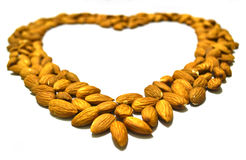 Almond Heart Shape  Royalty Free Stock Image