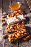Almond honey bar Stock Image