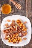 Almond honey bar Stock Photo