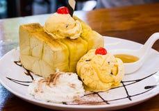 Almond honey toast Stock Images