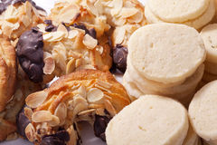 Almond horn and shortbread Stock Photo