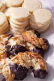 Almond horn and shortbread Royalty Free Stock Photography