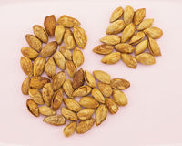 Almond with hull like pie chart Stock Photography