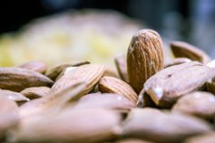 Almond. I capture this picture from The dry fruit market of Sukkur sindh Pakistan Royalty Free Stock Photos