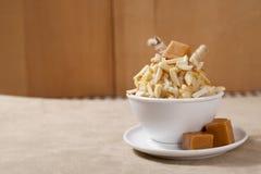 Almond ice cream Stock Images