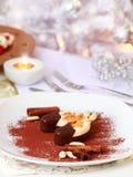 Almond  ice cream for Christmas Royalty Free Stock Photos