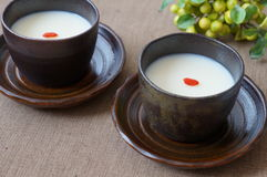 Almond Jelly,traditional Chinese dessert. Stock Photos