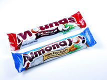 Almond Joy and Mounds bars stock photography