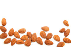 Almond kernels background Royalty Free Stock Photo