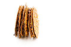 Almond lace cookies Royalty Free Stock Images
