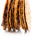 Almond lace cookies Stock Image