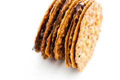 Almond lace cookies Stock Photos