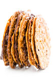Almond lace cookies Stock Photography