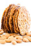 Almond lace cookies Royalty Free Stock Photo