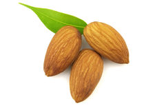 Almond with leaves Royalty Free Stock Photography