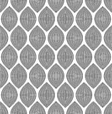 Almond like stripes, lines seamlessly repeatable pattern. Royalty free vector illustration Stock Images