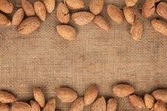 Almond lying Stock Image