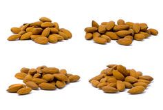 Almond macro set Stock Image