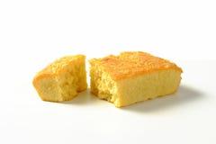 Almond Madeira Cake. Slice of almond madeira cake Royalty Free Stock Images
